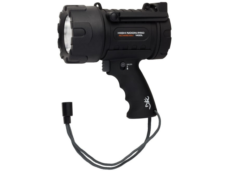 Browning High Noon Spotlight Pro LED with USB Rechargeable Battery Polymer Black