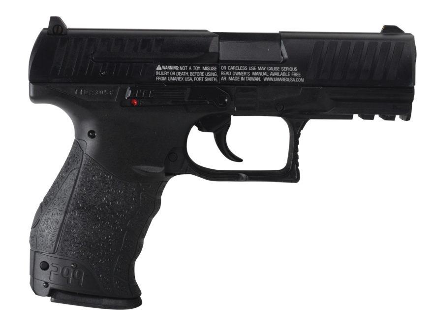 Walther PPQ Air Pistol 177 Caliber BB and Pellet Polymer Grip Blue Barrel