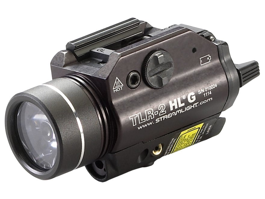 Streamlight TLR-2 HL G Weapon Light LED with Green Laser and 2 CR123A Batteries Fits Pi...