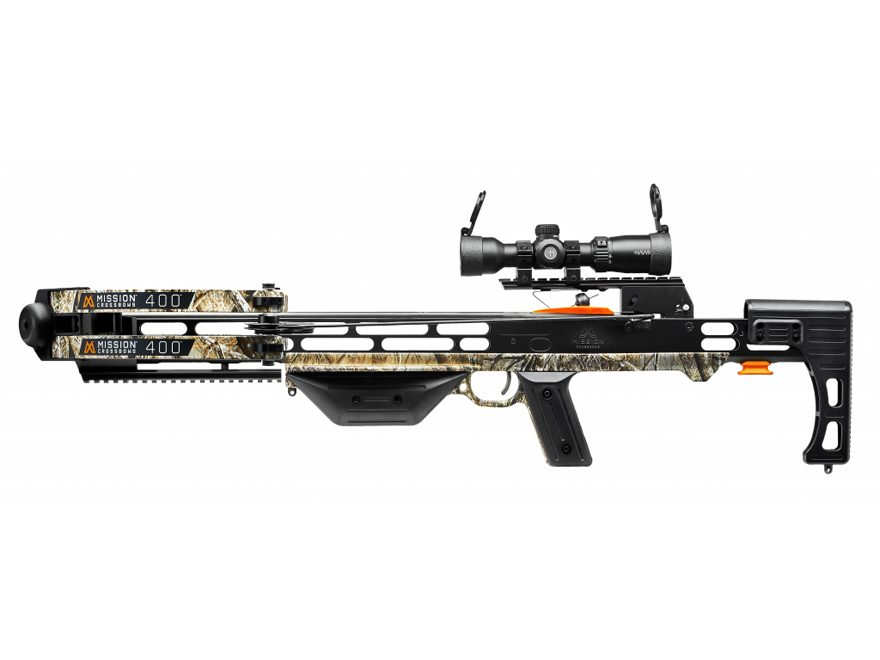 Mission 400 Pro Crossbow Package with 1.5-5x32 Illuminated Scope Lost Camo AT