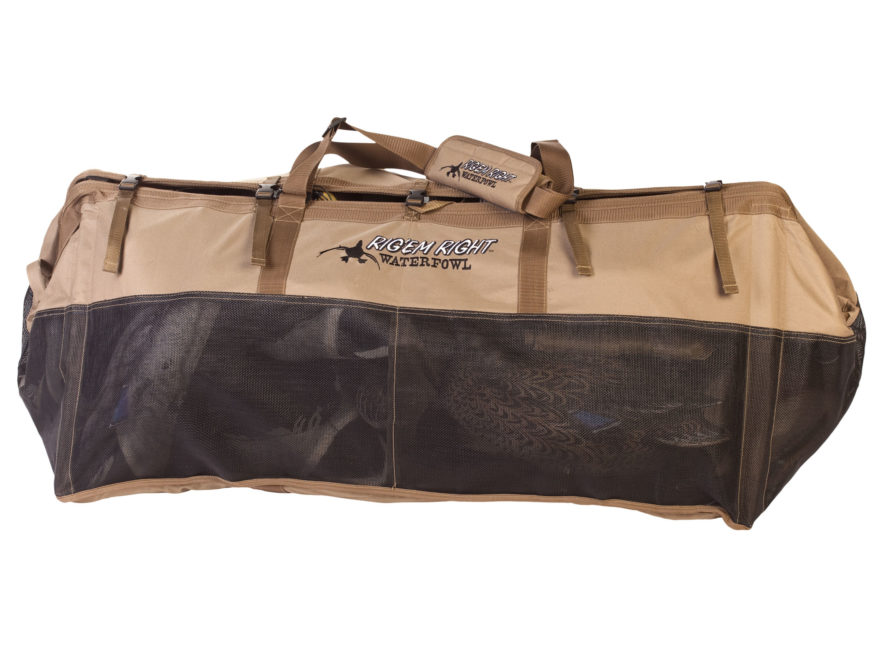 Rig'Em Right Long Haul 36 Floater Duck Decoy Bag Tan and Black