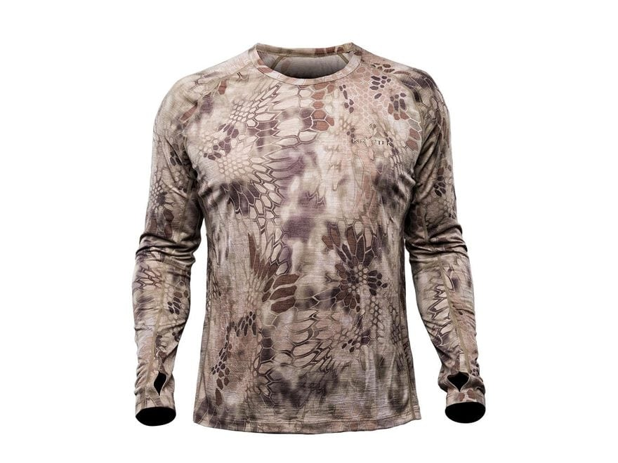 Kryptek Men's Hoplite II Merino Base Layer Shirt Long Sleeve Merino Wool