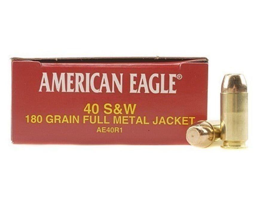 Federal American Eagle Ammunition 40 S&W 180 Grain Full Metal Jacket