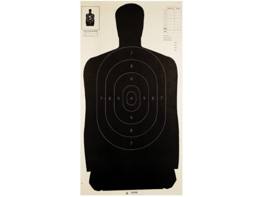 """Champion LE Police Silhouette Targets B-27 24"""" x 45"""" Paper Pack of 100"""
