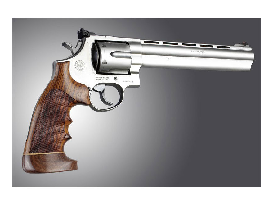 Hogue Fancy Hardwood Grips with Accent Stripe, Finger Grooves and Contrasting Butt Cap ...