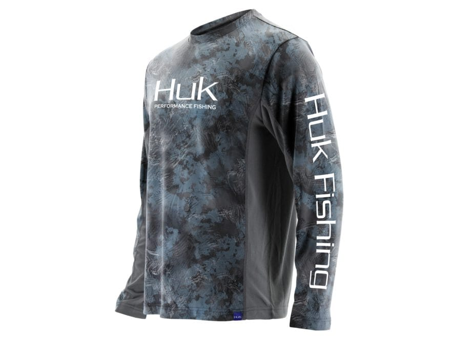 Huk Men's Icon X Camo Performance Shirt Long Sleeve Polyester/Spandex