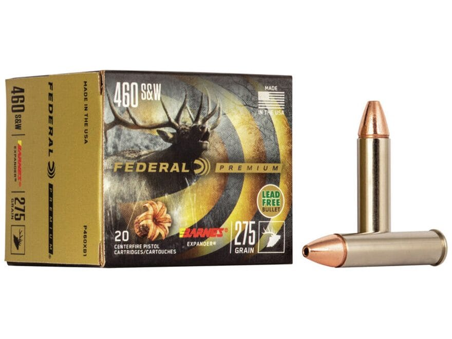 Federal Premium Vital-Shok Ammunition 460 S&W Magnum 275 Grain Barnes XPB Hollow Point ...