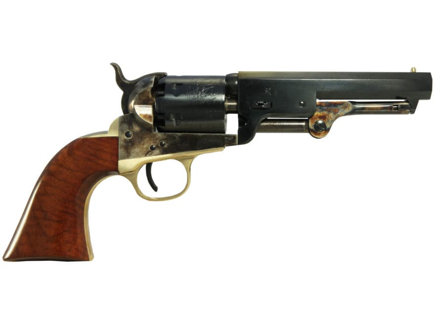 Uberti 1851 Navy Black Powder Revolver with Brass Trigger Guard and Backstrap 36 Calibe...