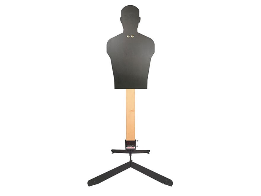Challenge Targets Full Size Silhouette Rifle/Handgun Target with Static Stand AR500 Steel