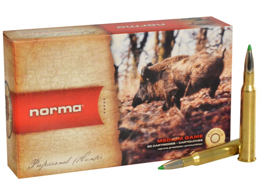 Norma USA American PH Ecostrike Ammunition 7x65mm Rimmed 140 Grain Tipped Boat Tail Lea...