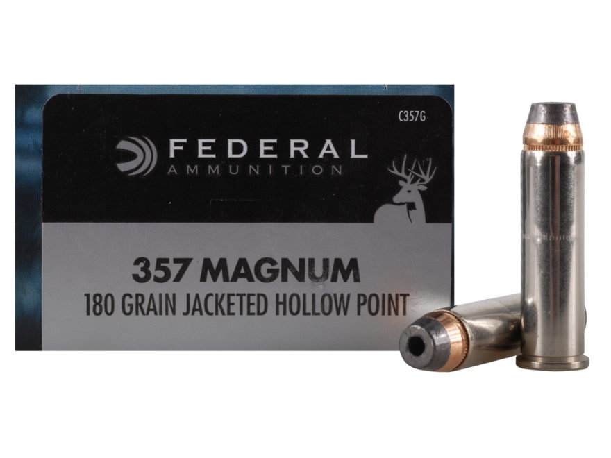 Federal Power-Shok Ammunition 357 Magnum 180 Grain Jacketed Hollow Point Box of 20