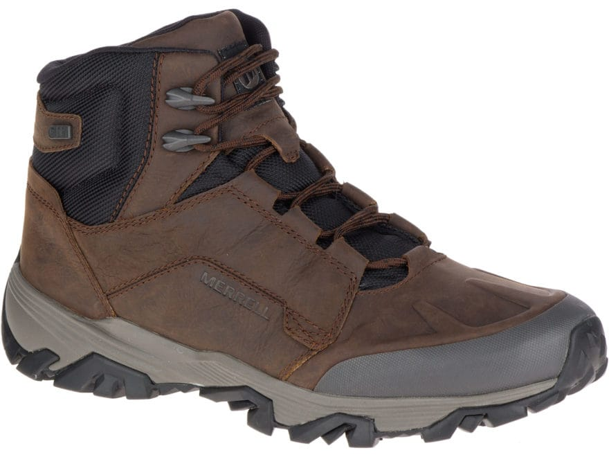"Merrell Coldpack Ice+ Mid Polar 5"" 200 Gram Insulated Waterproof Hiking Boots Leather/S..."