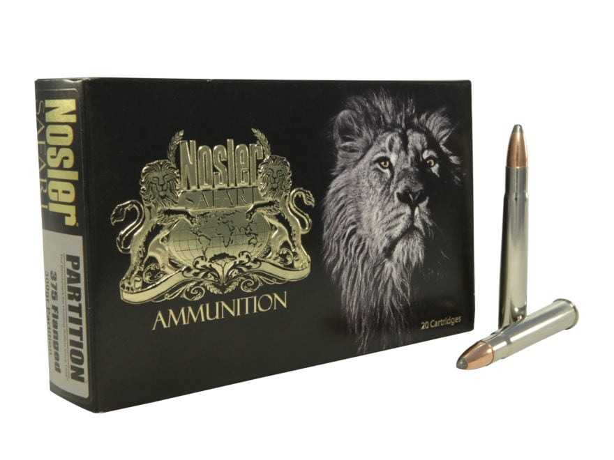 Nosler Safari Ammunition 375 Flanged Magnum 300 Grain Partition Box of 20