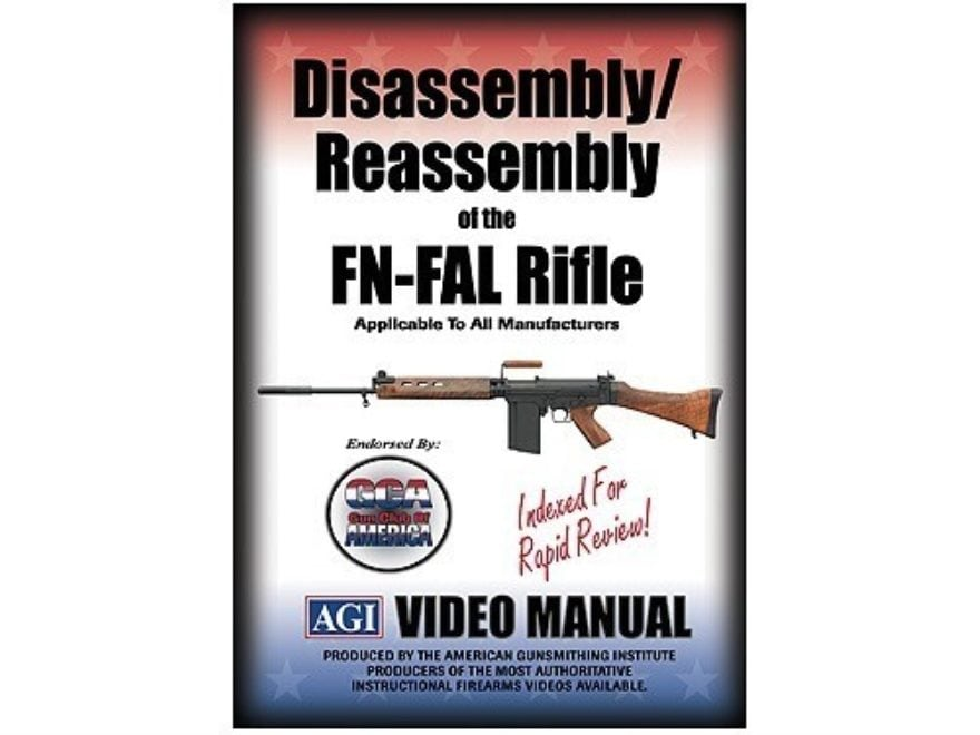 "American Gunsmithing Institute (AGI) Disassembly and Reassembly Course Video ""FN-FAL Ri..."