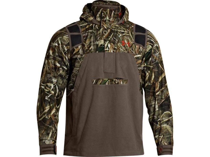 e446195dfab Under Armour Men s ColdGear Infrared SkySweeper Hooded Sweatshirt 1 4 Zip  Waterproof Po.