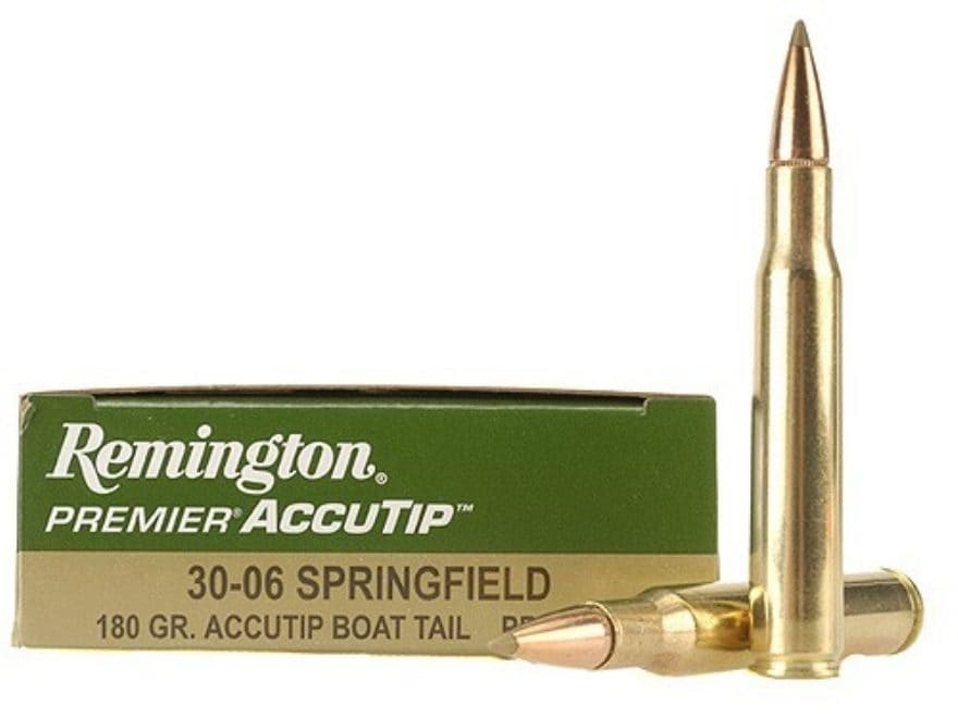 Remington Premier Ammunition 30-06 Springfield 180 Grain AccuTip Boat Tail Box of 20