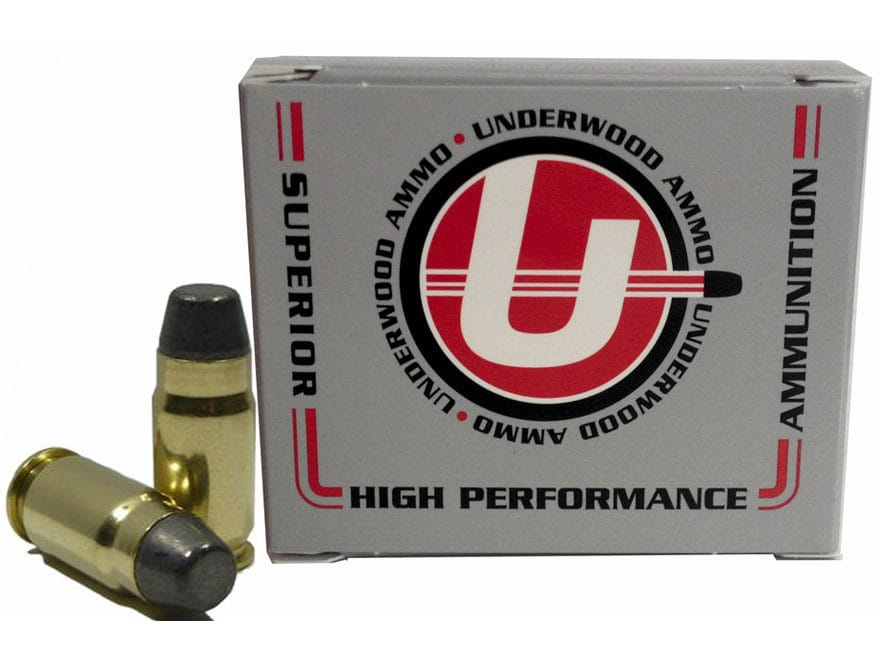 Underwood Ammunition 40 Super 220 Grain Hard Cast Flat Nose Box of 20