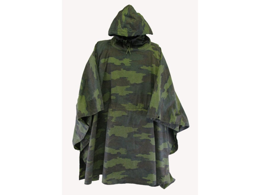 Military Surplus Belgian Wet Weather Poncho Grade 2 Belgian Camo