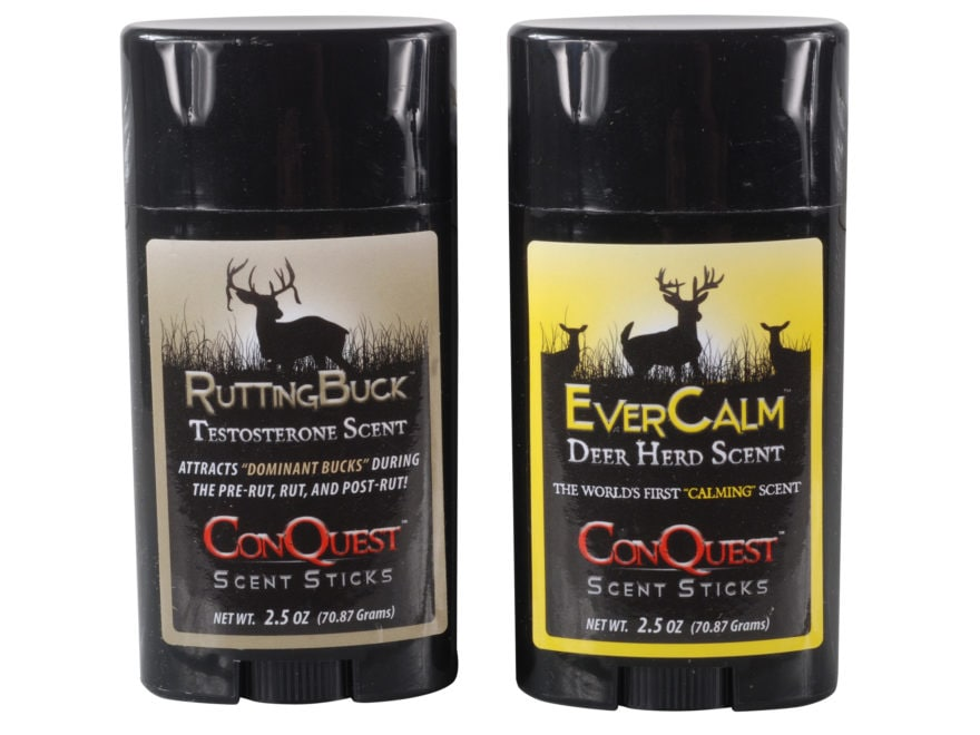 ConQuest Rutting Buck Pack Deer Scent Sticks 2.5 oz Pack of 2