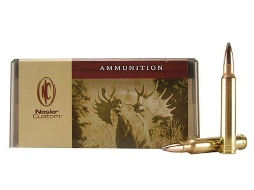 Nosler Custom Ammunition 8mm Remington Magnum 200 Grain Partition Spitzer Box of 20