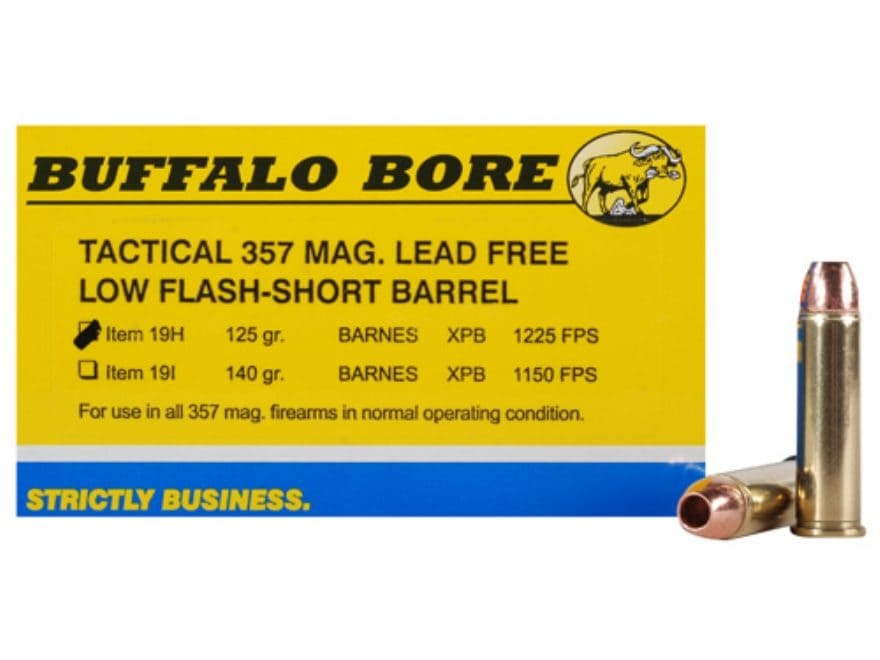 Buffalo Bore Ammunition 357 Magnum Short Barrel 125 Grain Barnes TAC-XP Hollow Point Lo...