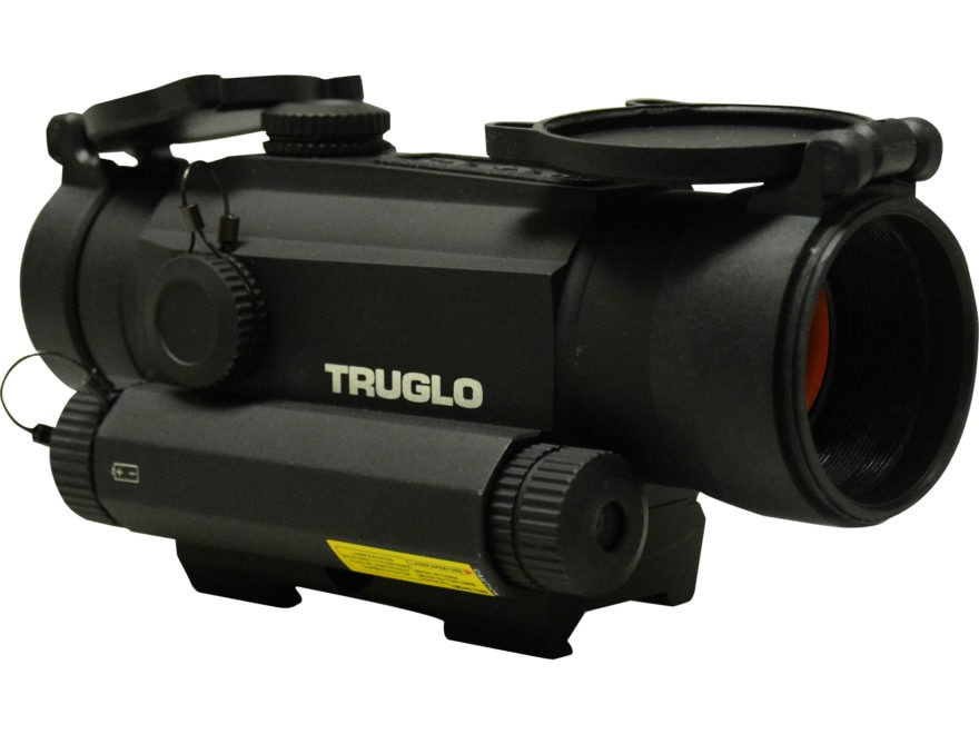 TRUGLO Tru Tec Red Dot Sight with Integrated Laser 30MM 1x 2 MOA Reticle Picatinny Styl...