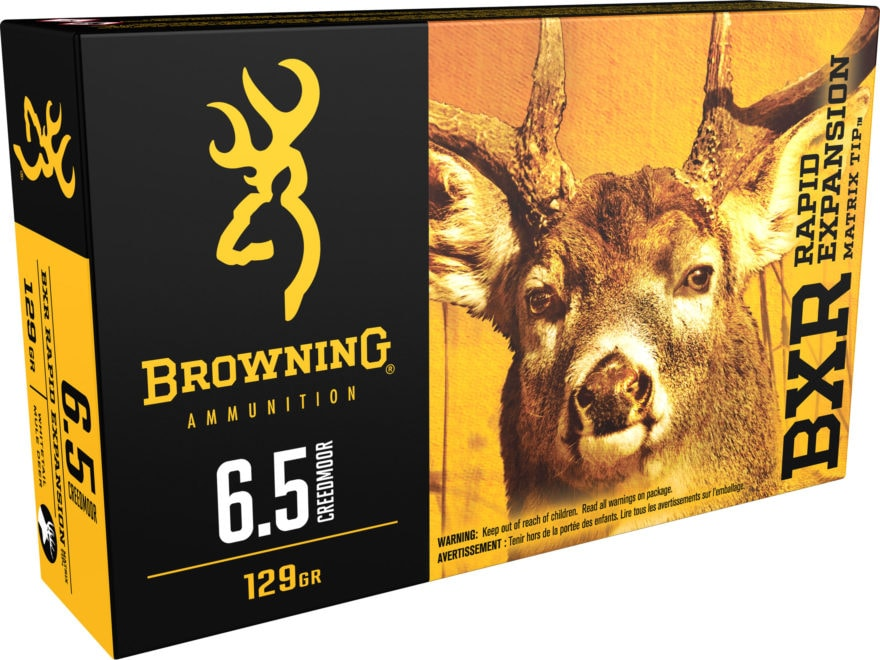 Browning BXR Rapid Expansion Ammunition 6.5 Creedmoor 129 Grain Matrix Tip