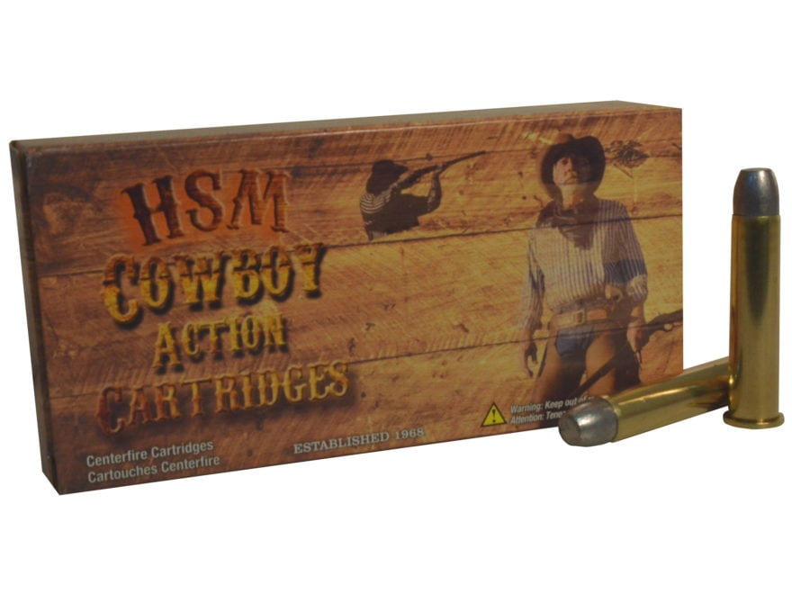 HSM Cowboy Action Ammunition 45-70 Government 405 Grain Hard Cast Flat Nose Triple Lube...