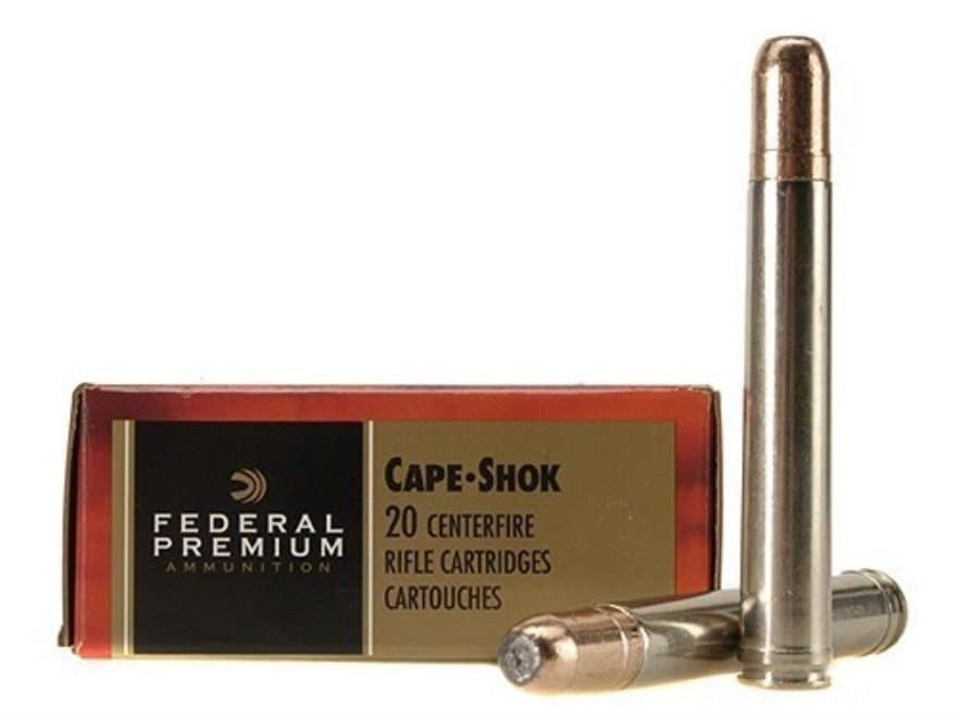 Federal Premium Cape-Shok Ammunition 458 Lott 500 Grain Trophy Bonded Bear Claw