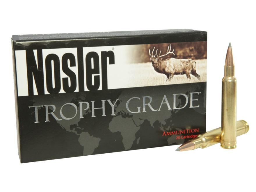 Nosler Trophy Grade Ammunition 300 Weatherby Magnum 210 Grain AccuBond Long Range Box o...