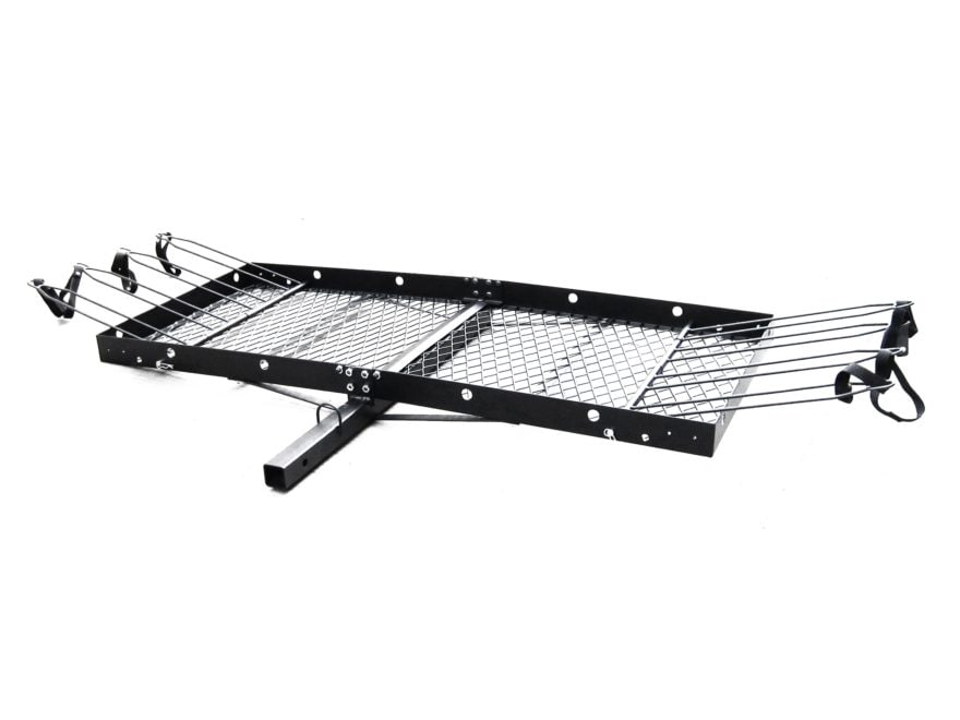 """Tow Tuff Cargo Carrier 62"""" X 27"""" X 3"""" Steel with Removable Bike Rack"""