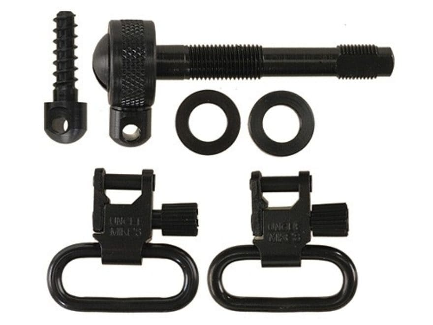 "Uncle Mike's Quick Detachable Sling Swivel Set Remington 742 Standard, ADL 1"" Black"