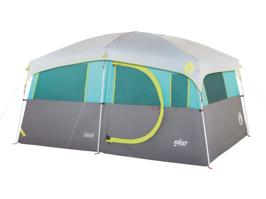 "Coleman Tenaya Lake Lighted FastPitch 8 Person Cabin Tent 156"" x 108"" x 80"" with Closet..."