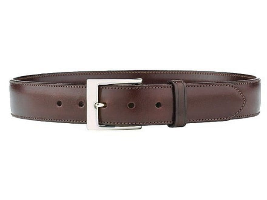 "Galco SB3 Belt 1-1/2"" Nickel Plated Brass Buckle Leather"