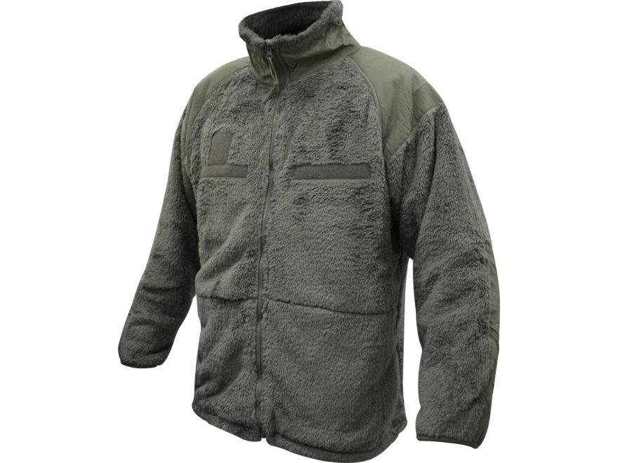 Military Surplus Gen III Shaggy Fleece Jacket Foliage Green