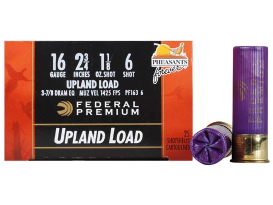 "Federal Premium Wing-Shok Ammunition 16 Gauge 2-3/4"" 1-1/8 oz Buffered Copper Plated Shot"