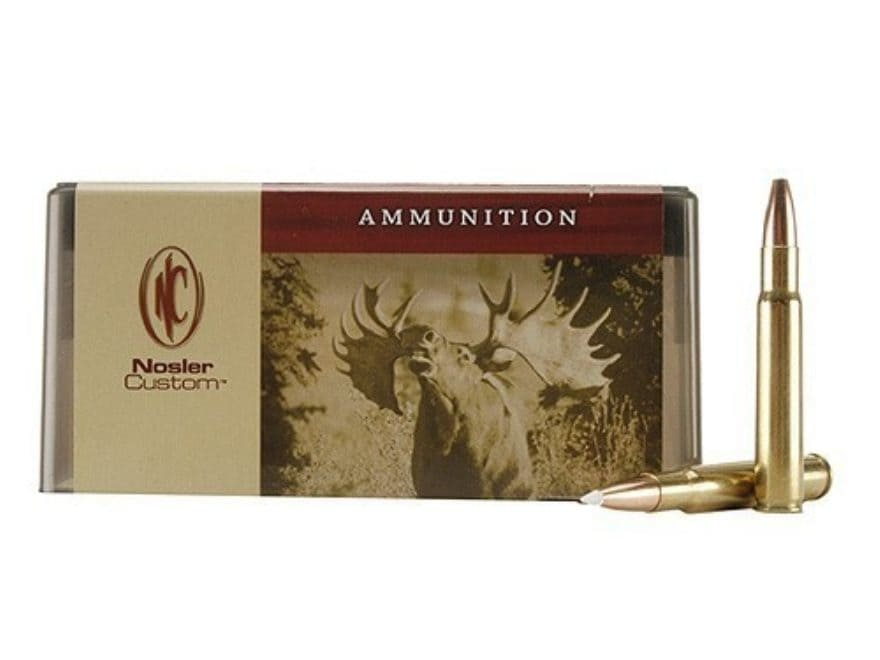 Nosler Custom Ammunition 338-06 A-Square 200 Grain AccuBond Spitzer Box of 20
