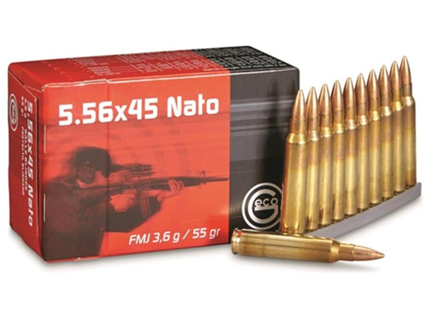Geco Ammunition 5.56x45mm NATO 55 Grain Full Metal Jacket Box of 50