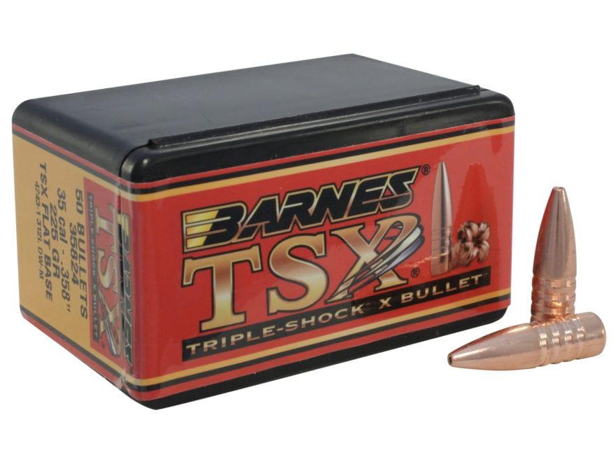 Barnes Triple-Shock X (TSX) Bullets 35 Caliber (358 Diameter) 225 Grain Hollow Point Fl...