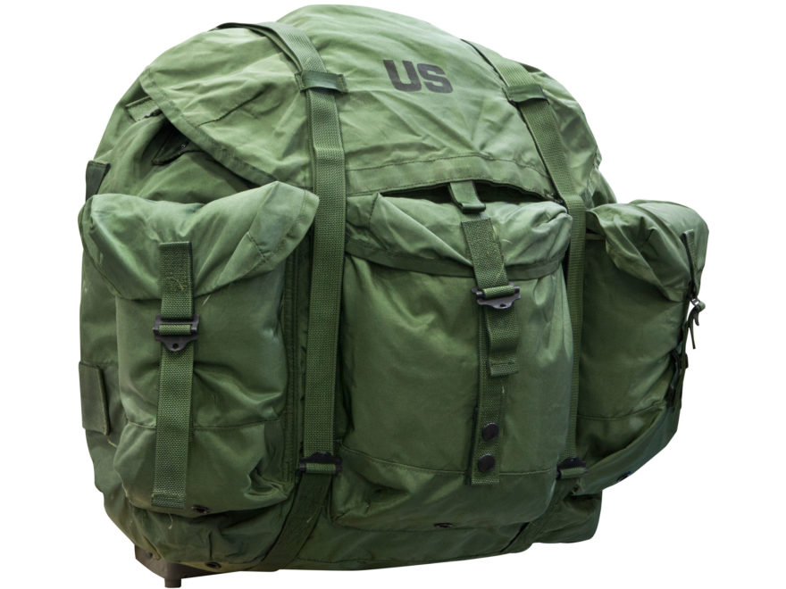 Military Surplus Large ALICE Pack Complete with Frame Assembly Nylon Olive Drab