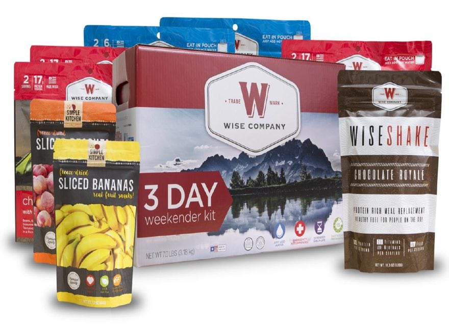Wise Company 3-Day Weekender Freeze Dried Food Kit