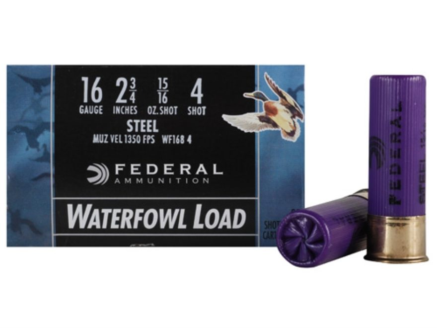 "Federal Speed-Shok Waterfowl Ammunition 16 Gauge 2-3/4"" 15/16 oz Non-Toxic Steel Shot"