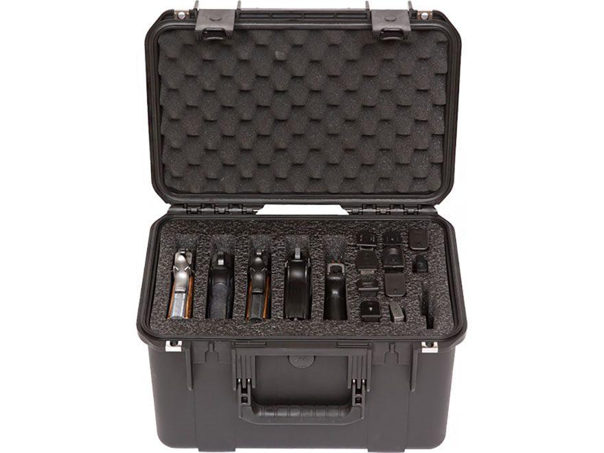 SKB iSeries 1610-10 5 Gun Pistol Case Polymer Black
