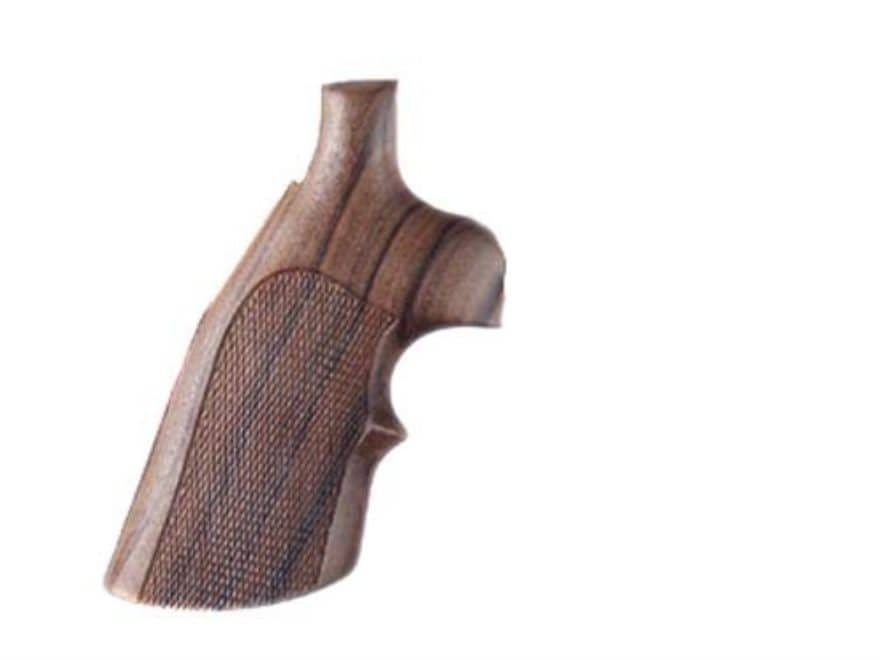 Hogue Fancy Hardwood Grips with Top Finger Groove S&W J-Frame Square Butt Checkered Pau