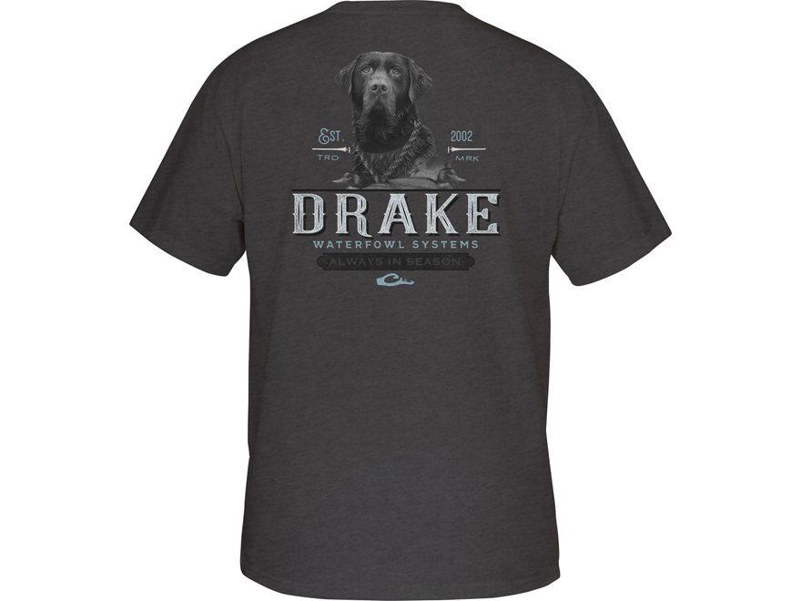 Drake Men's Black Lab T-Shirt Short Sleeve Cotton