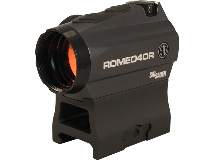 Sig Sauer ROMEO4DR Red Dot Sight 1x Ballistic Circle Dot Reticle High Hex Bolt Mount Gr...