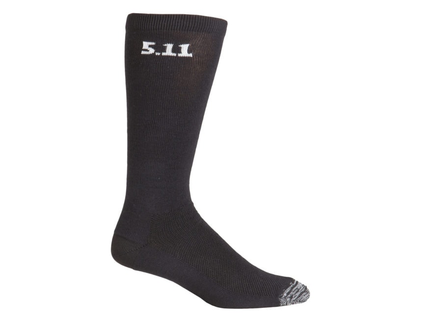 "5.11 Men's Medium Weight 9"" Crew Socks Polymer 3 Pairs"