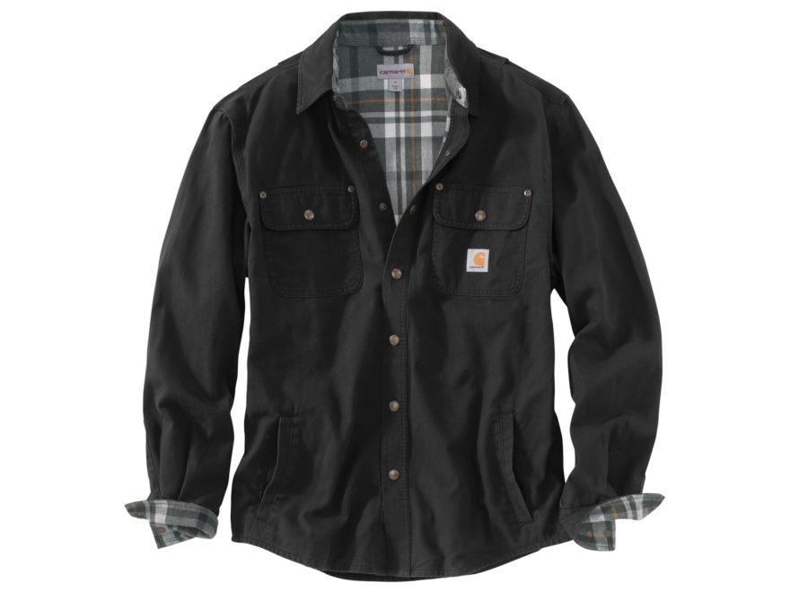 Carhartt Men's Weathered Canvas Shirt Jac Snapfront Cotton