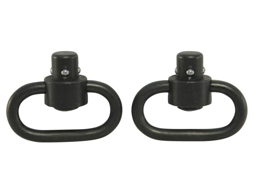 "GrovTec Heavy Duty Push Button Quick Detach Sling Swivel 1-1/4"" Steel Package of 2"