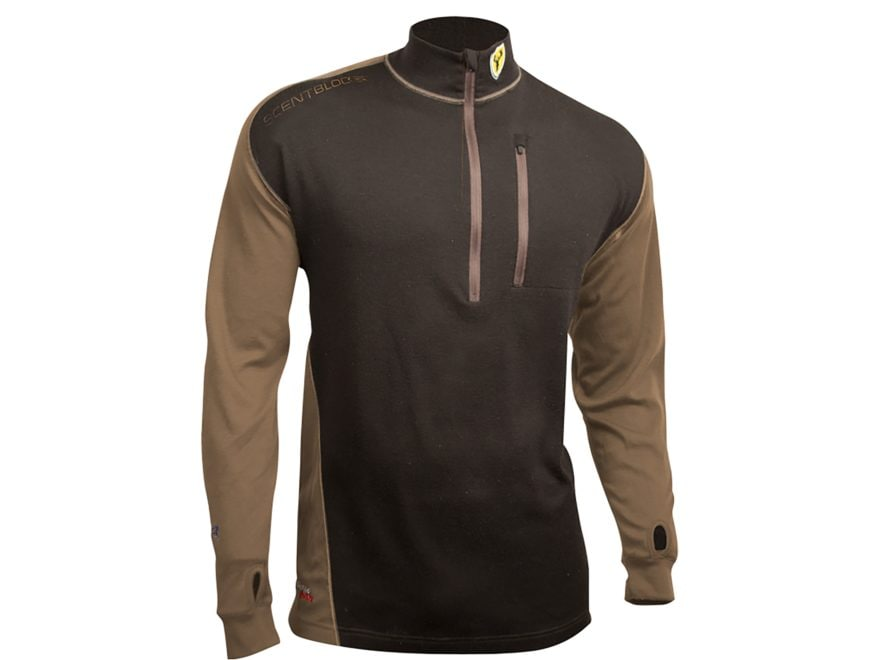 ScentBlocker Men's Midweight Wool Base Layer Shirt Long Sleeve Merino Wool